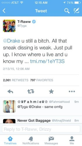 Tyga_Calls_Drake_A_Bitch-281x500 Tyga Calls Drake A Bitch On Twitter For 'Sneak Dissing'