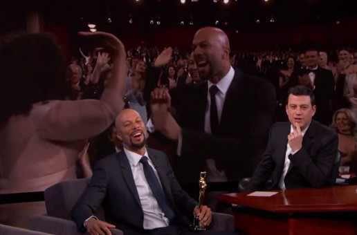 Common Explains To Jimmy Kimmel Why He Curved Oprah's High-Five At The Oscars! (Video)