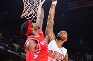 Phoenix Suns Forward Markieff Morris Finishes A Nasty Dunk On Houston Rockets Forward Josh Smith (Video)