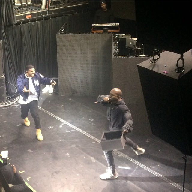 drake-brings-out-kanye-west-travis-scott-ob-obrien-ilovemakonnen-in-nyc-video-HHS1987-2015 Drake Brings Out Kanye West, Travis Scott, OB O'Brien & ILoveMakonnen In NYC (Video)