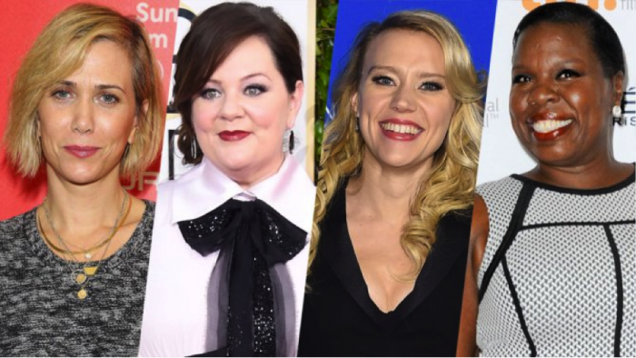 "female-ghostbusters-cast ""Bridesmaid"" Director Paul Feig Announces Melissa McCarthy & Kristen Wiig Star In All- Female Ghostbusters Reboot"