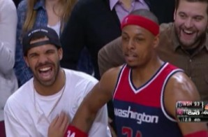 Paul Pierce Shoves Drake During Wizards vs Raptors Game (Video)