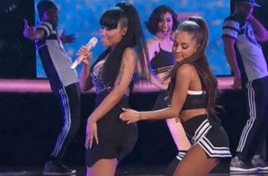Nicki Minaj Joins Ariana Grande On Stage During NBA All Star Halftime Show (Video)