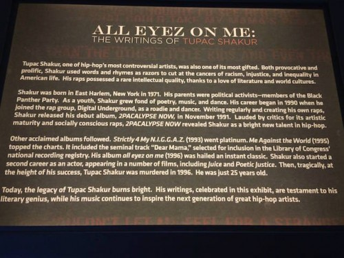 "tupac2-500x375 ""All Eyez on Me: The Writings of Tupac Shakur"" Exhibit Opens At Grammy Museum"