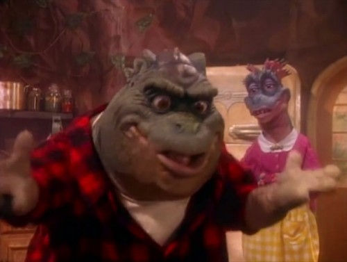 dinosaurs-500x377 Not Big Poppa! Not Big Poppa! Earl Sinclair From 'The Dinosaurs' Performs Biggie's 'Hypnotize!' (Video)