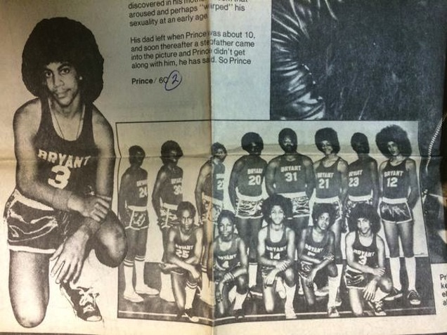 image Prince As A Middle-School Basketball Player (Video)