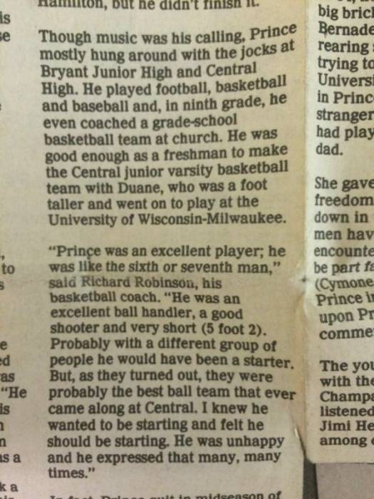 image1 Prince As A Middle-School Basketball Player (Video)
