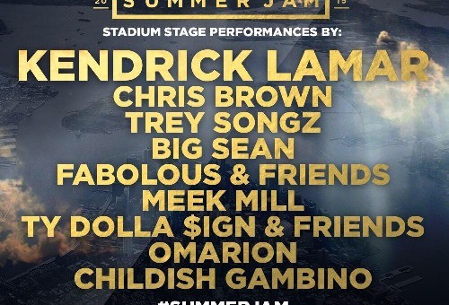 Kendrick Lamar, Trey Songz, Chris Brown, Fabolous And More To Headline Hot97's Summer Jam! (Video)