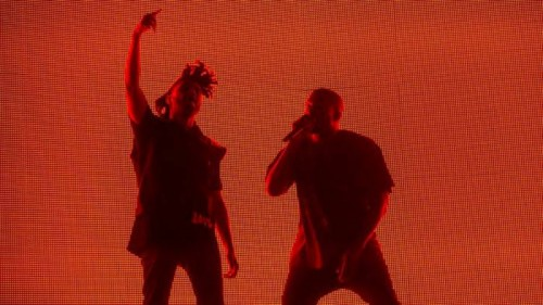 Kanye_Coachella-500x281 Kanye West Joins The Weeknd At Coachella Weekend 2 (Video)