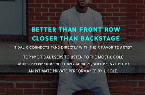 Tidal To Launch Tidal X Offline Experience Series With Private J. Cole Concert