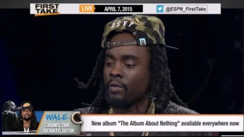 "WAle-500x281 Wale On ESPN's ""First Take"""