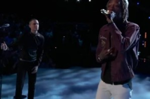 "Wiz Khalifa Performs ""See You Again"" On The Voice"