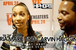 Carvin Haggins & Bria Marie At 'Brotherly Love' Movie Screening in Philadelphia (3/31/15) (Video)