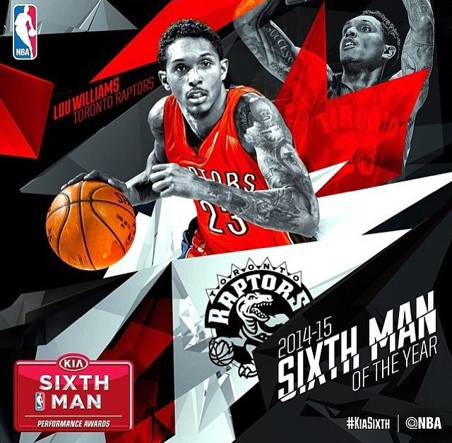unnamed-210 Toronto Raptors Star Louis Williams Receives The 2014-15 NBA Kia Motors 6th Man Of The Year Award