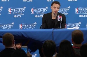 Stephen Curry's Daughter Riley Joins Him Post Game & Steals The Hearts Of Many (Video)