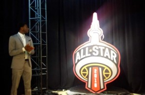 Andrew Wiggins & The NBA Unveil The 2016 Toronto NBA All-Star Game Logo (Photo)