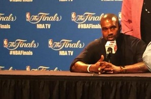 Kanye West Makes An Appearance At The 2015 NBA Finals Post Game Ceremony (Video)