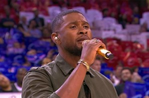 Usher Raymond Sings The Star-Spangled Banner Before Game 4 Of The 2015 NBA Finals In Cleveland (Video)