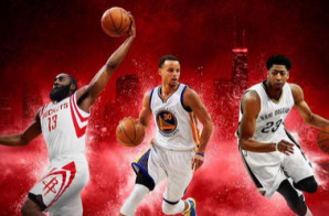 "Steph Curry, James Harden & Anthony Davis Will Cover ""NBA 2K16"" (Photos)"