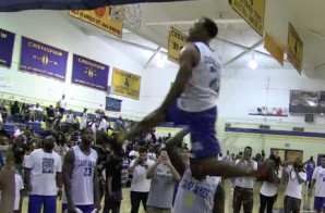 Young Hollywood Jumps Over Trinidad James Displaying His Dunking Skills In Crenshaw Celeb Game (Video)