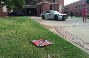Confederate Flags Were Placed Around The King Center & Ebenezer Baptist Church This Morning In Atlanta