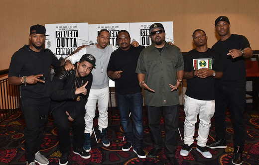 "SOC-2 Ice Cube, O'Shea Jackson Jr, F. Gary Gray & More Attend The VIP ""Straight Outta Compton"" Screening In Atlanta"