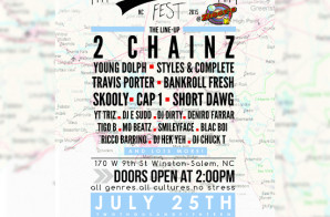 2 Chainz, Travis Porter, Bankroll Fresh & More Will Take The Stage at DJ E Sudd's Inaugural North Carolina 'No Stress Fest'