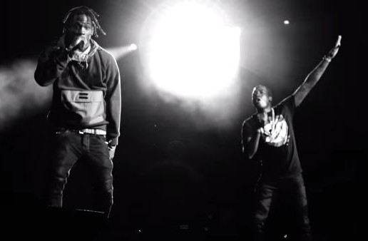 "Meek Mill Brings Out Travis $cott To Perform ""3500"" In Bristol, Va During Pinkprint Tour! (Video)"