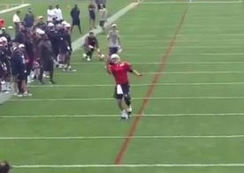 Tom Brady Makes A Nice One Handed Touchdown Catch During Patriots Training Camp (Video)