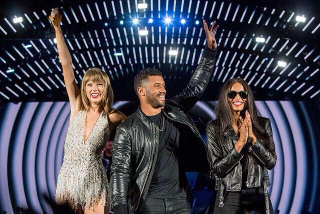 taylor-swift-ciara Fetty Wap, Russell Wilson & Ciara Joined Taylor Swift On Stage In Seattle (Video)