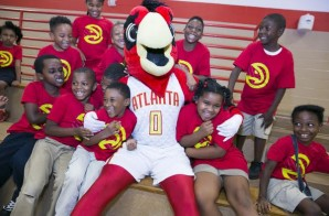 True To Atlanta: The Atlanta Hawks Tab Bessie Branham Park For Their Third Basketball Court Renovation Of 2015