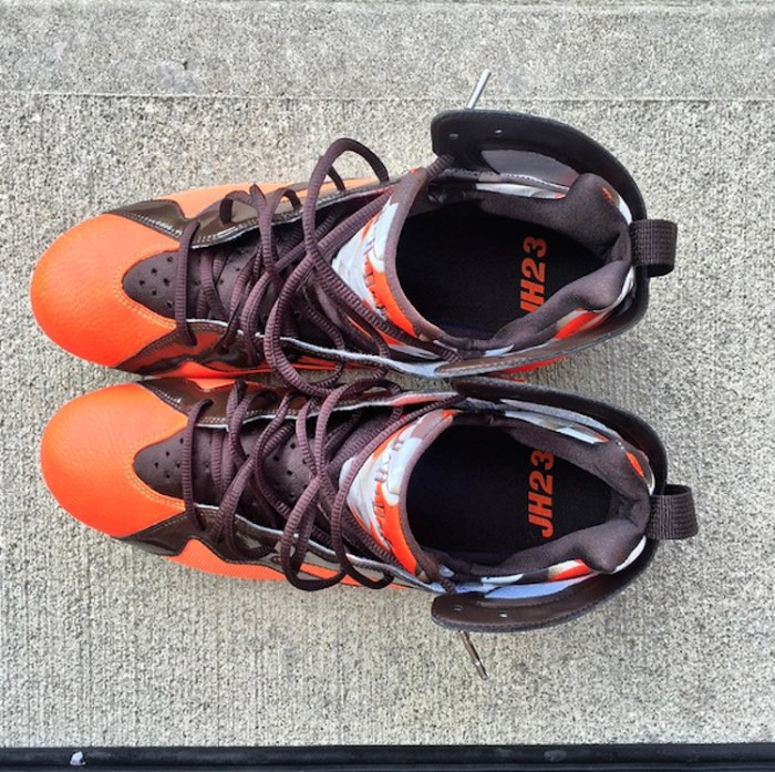 JOEHADENPE-11-1 Jordan Brand's Newest Signee, Cleveland Browns Pro Bowler Joe Haden Reveals His New Air Jordan 7 Cleats
