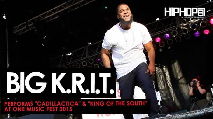 "King-Of-The-South Big K.R.I.T. Performs ""Cadillactica"" & ""King of the South"" At One Music Fest (Video) (Shot by Brian Da Director)"
