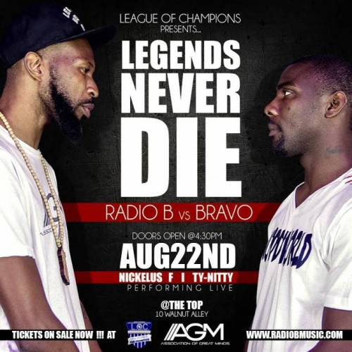 LNDFinal-500x500 Legends Never Die Rap Battle: Radio B vs Bravo (Video)