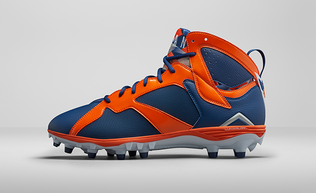 broncos Flying On The Field: Jordan Brand Introduces The Air Jordan 7 Cleats (Photos)