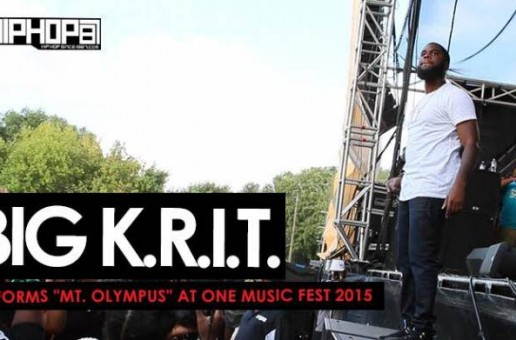 """Big K.R.I.T. Performs """"Mt. Olympus"""" During One Music Fest 2015 (Video)"""