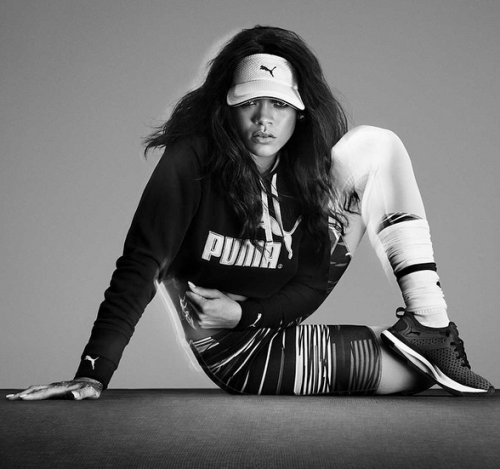 rihanna-500x469 Rihanna Flexes In Her Brand New Puma Training Ad! (Video)