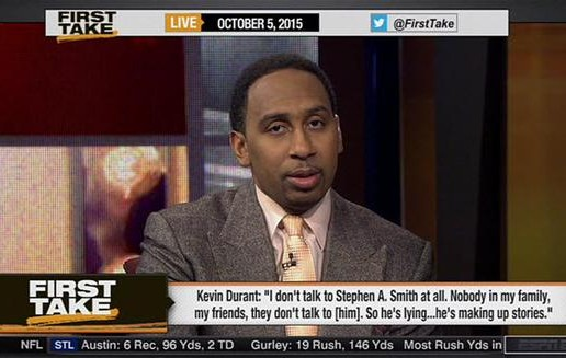 Stephen A. Smith Goes On A Rant On First Take & Has A Few Choice Words For Kevin Durant (Video)