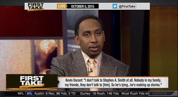 CQkNEyiWIAAHfpy Stephen A. Smith Goes On A Rant On First Take & Has A Few Choice Words For Kevin Durant (Video)