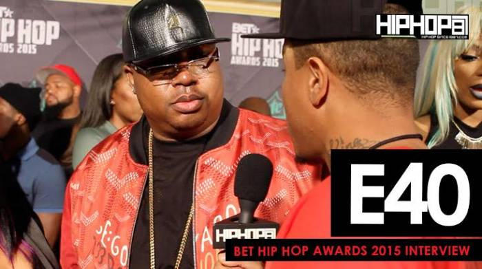 e40 E40 Talks His Upcoming Project 'Poverty and Prosperity', Predicts a Golden State Warriors Repeat & More On The 2015 BET Hip-Hop Awards Green Carpet (Video)