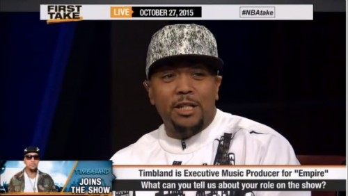 tim1-500x282 Timbaland Hits The Set Of ESPN's First Take For The 'Great Debate'! (Video)