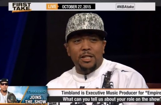 Timbaland Hits The Set Of ESPN's First Take For The 'Great Debate'! (Video)