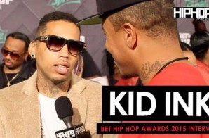 Kid Ink Talks Performing With Dej Loaf, Touring Overseas, Working With 21 Savage & More On The 2015 BET Hip-Hop Awards Green Carpet