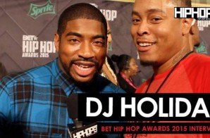 DJ Holiday Talks Being The BET Awards Official DJ, The Million Man March, Streetz 94.5 & More On The 2015 BET Hip-Hop Awards Green Carpet (Video)