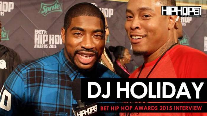 unnamed-43 DJ Holiday Talks Being The BET Awards Official DJ, The Million Man March, Streetz 94.5 & More On The 2015 BET Hip-Hop Awards Green Carpet (Video)