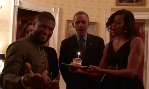usher-president-birthday-500x300 Barack & Michelle Obama Sing Happy Birthday to Usher! (Video)