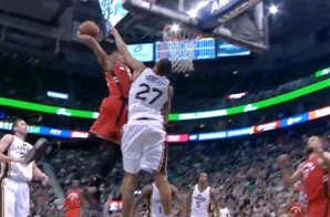 Well Damn: DeMar DeRozan Throws Down the VICIOUS Slam on Rudy Gobert (Video)