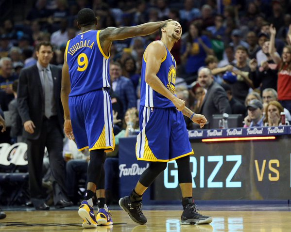 Steph-2 Best of the Best: Steph Curry Banks in a Wild Circus Shot From Nearly Half Court (Video)