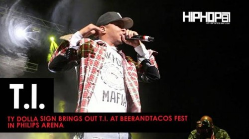 T.I-500x279 Ty Dolla Sign Brings Out T.I. at BeerAndTacos Fest in Philips Arena (Video)
