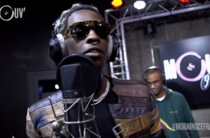 Young Thug Kicks A Freestyle On French Radio Show 'Good Morning Cefran'! (Video)